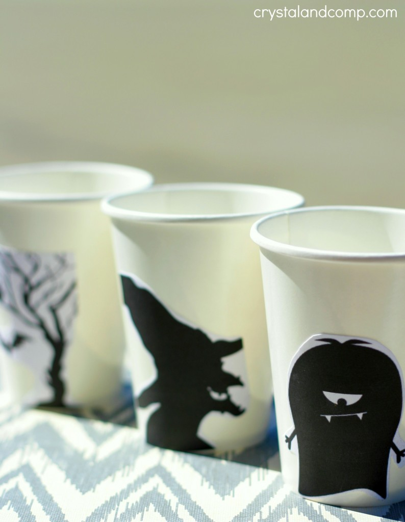 DIY party cups for halloween