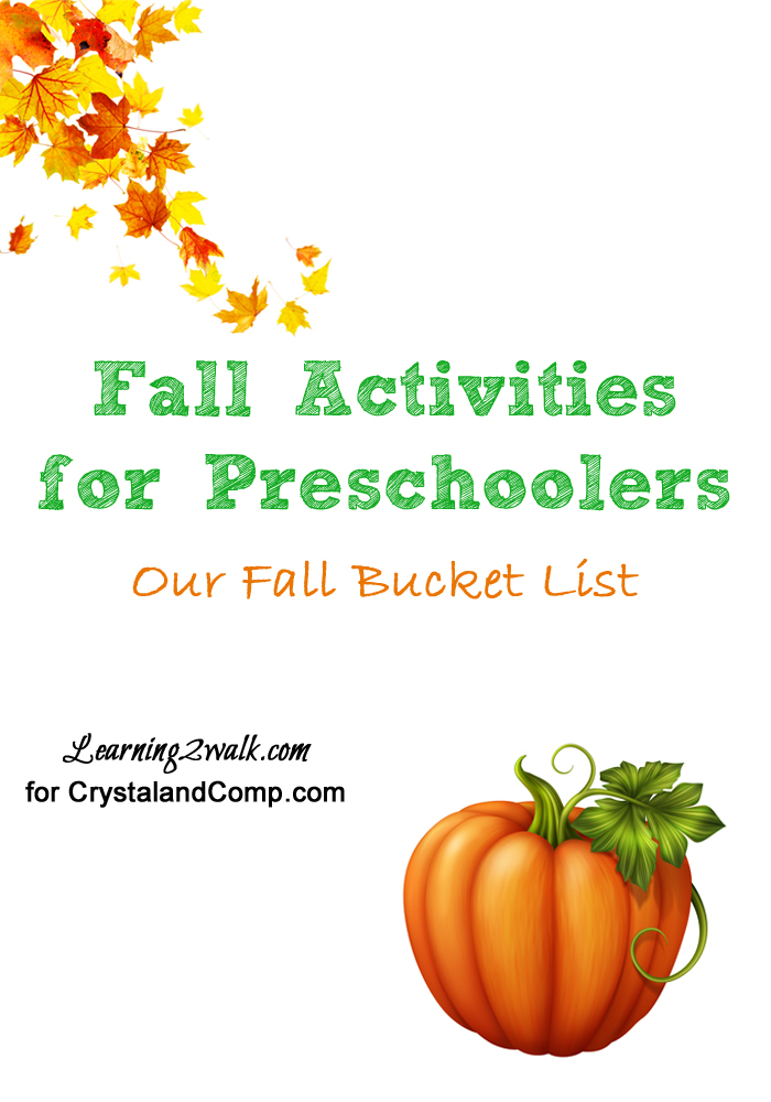 Fall Activities for Preschoolers- our bucket list
