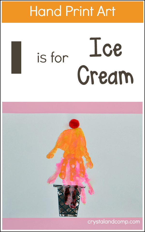 Hand Print Art: I is for Ice Cream