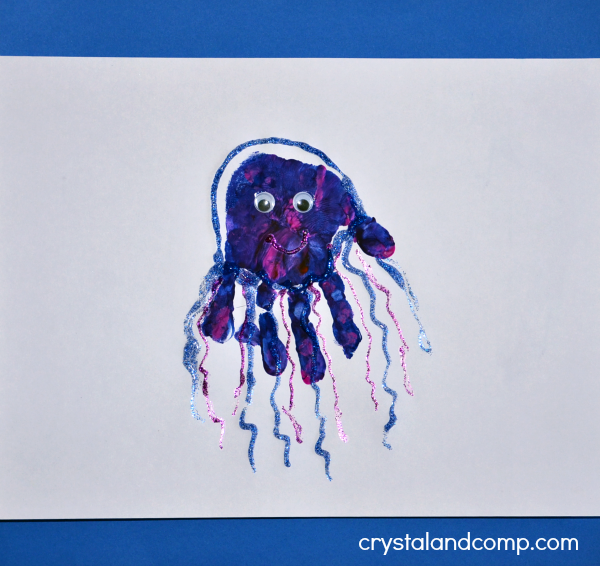 Hand Print Art: J is for Jellyfish
