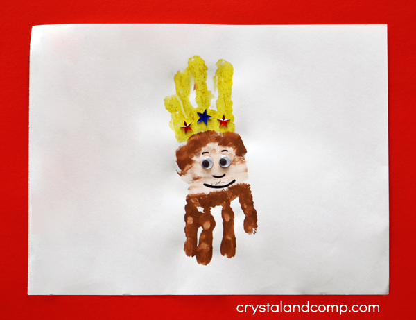 Hand Print Art: K is for King
