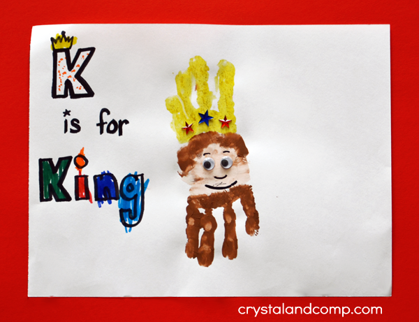 Hand Print Art K is for King