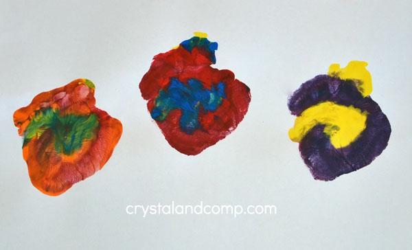Hand Print Lollipops
