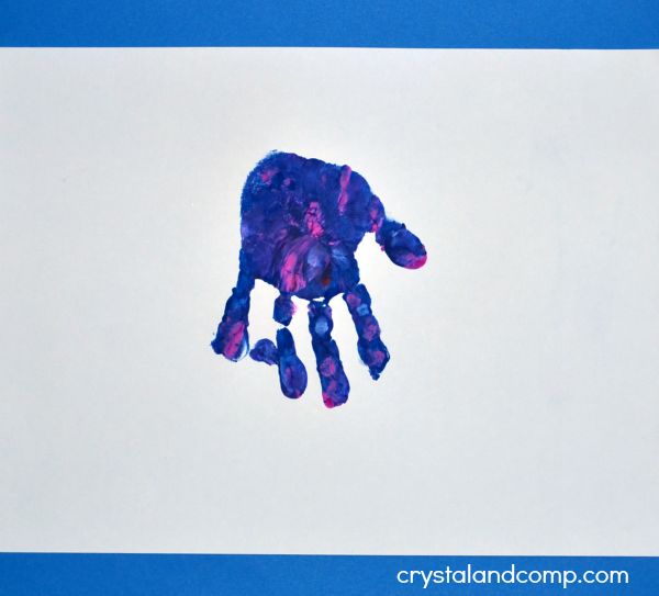 Jellyfish Hand Print Art