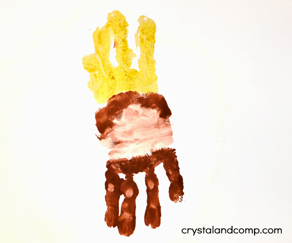 K is for King Hand Print Art