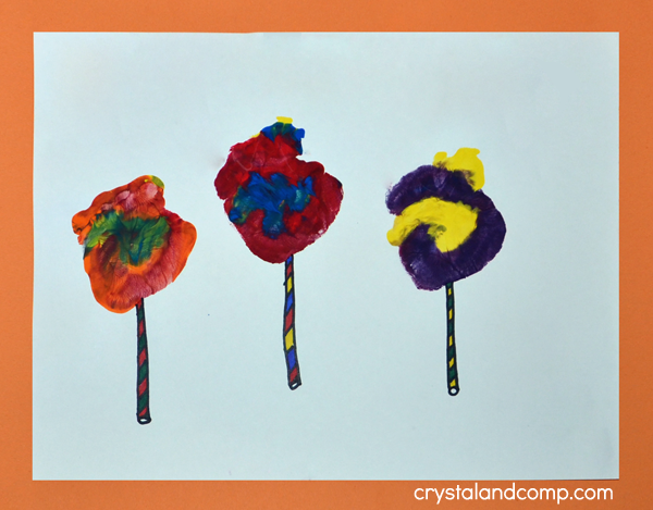 Lollipop Handprint Art