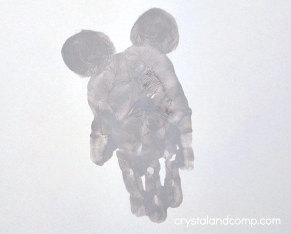 Mouse Hand Print Art