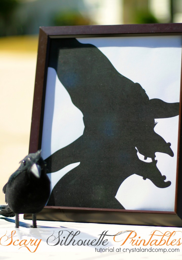 Scary Silhouettes Printables