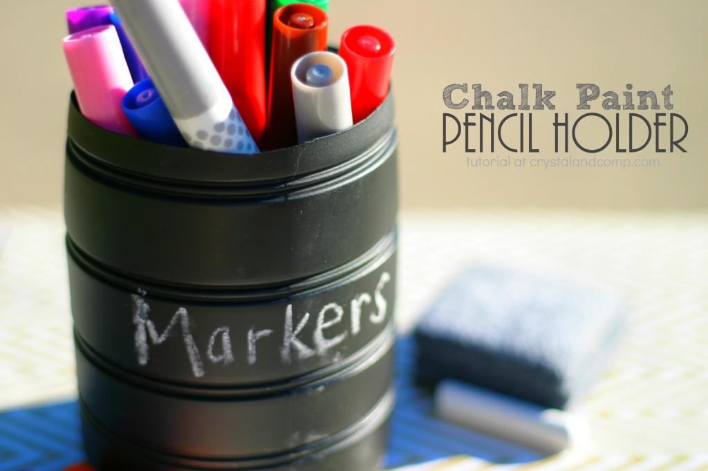 chalk paint pencil holder