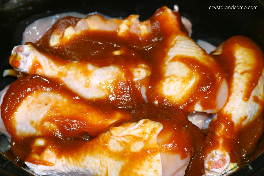 chicken cooking in pumpkin butter