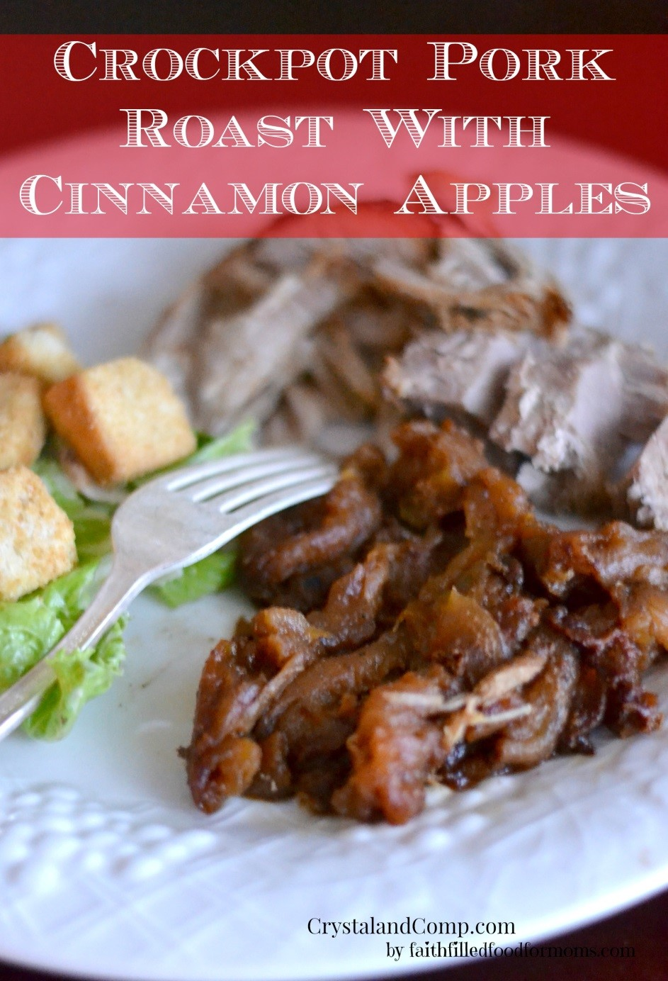 crockpot prok roast apples