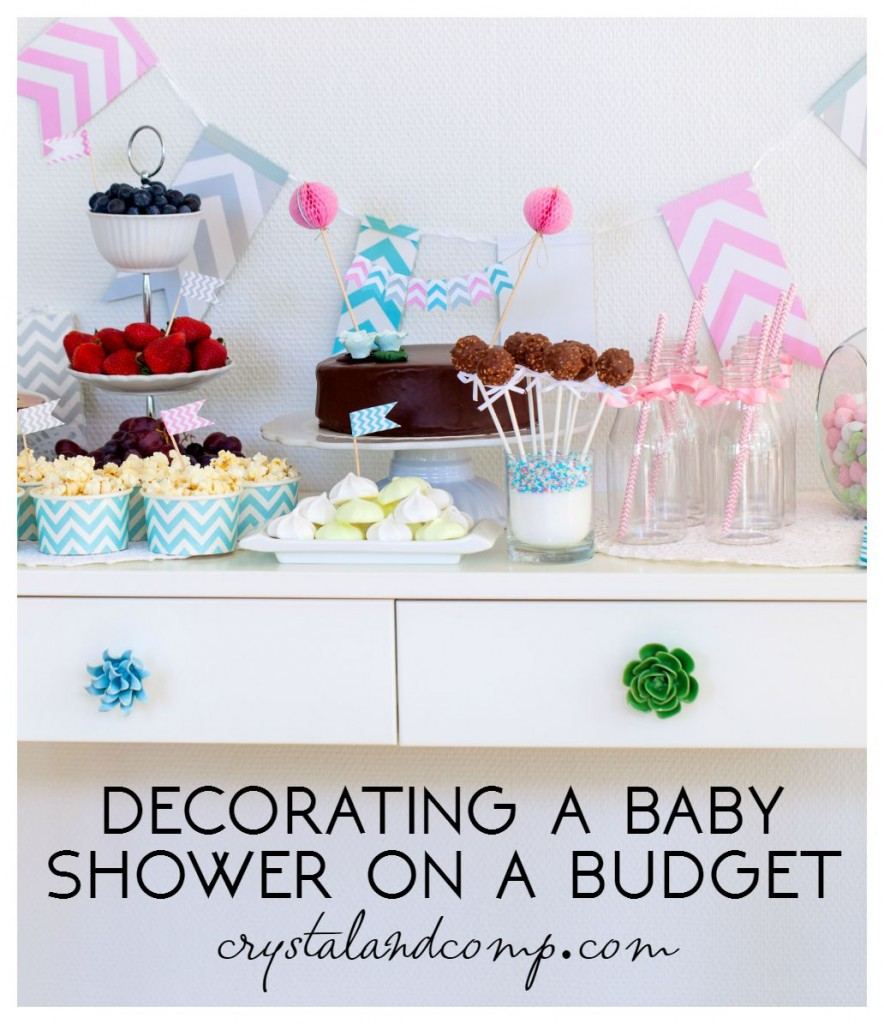 decorating a baby shower on a budget