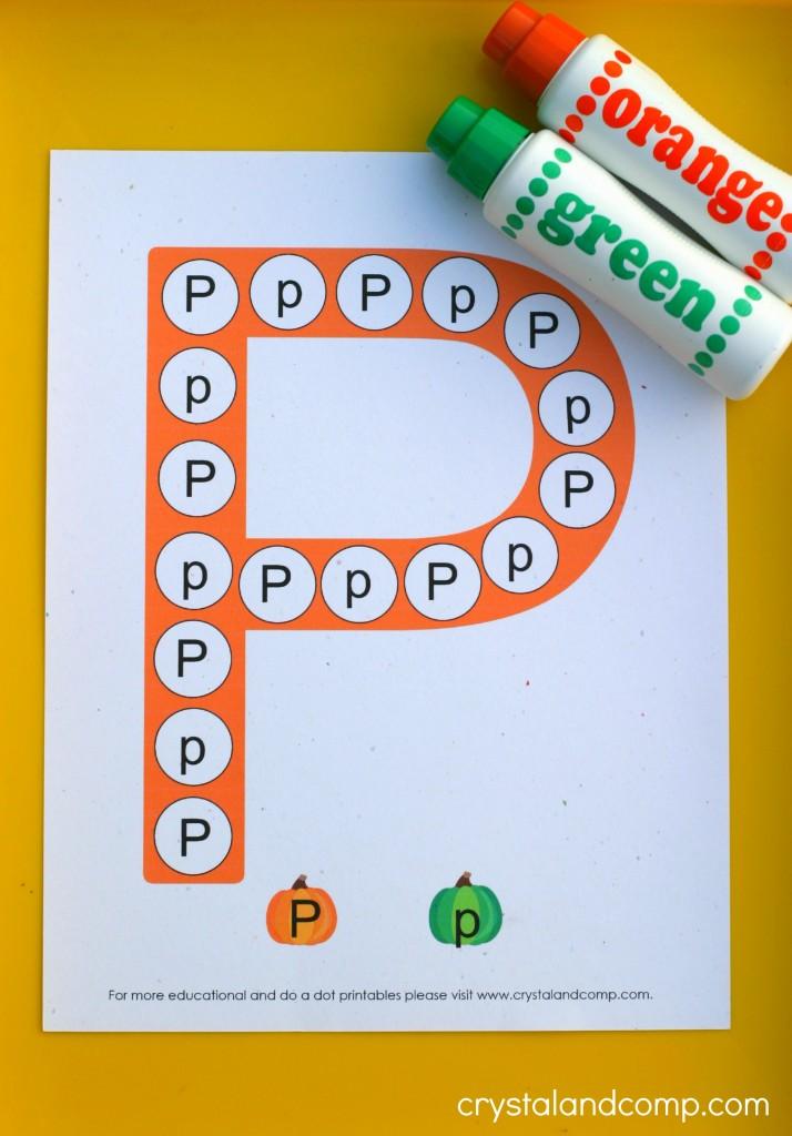 do a dot printables letter p