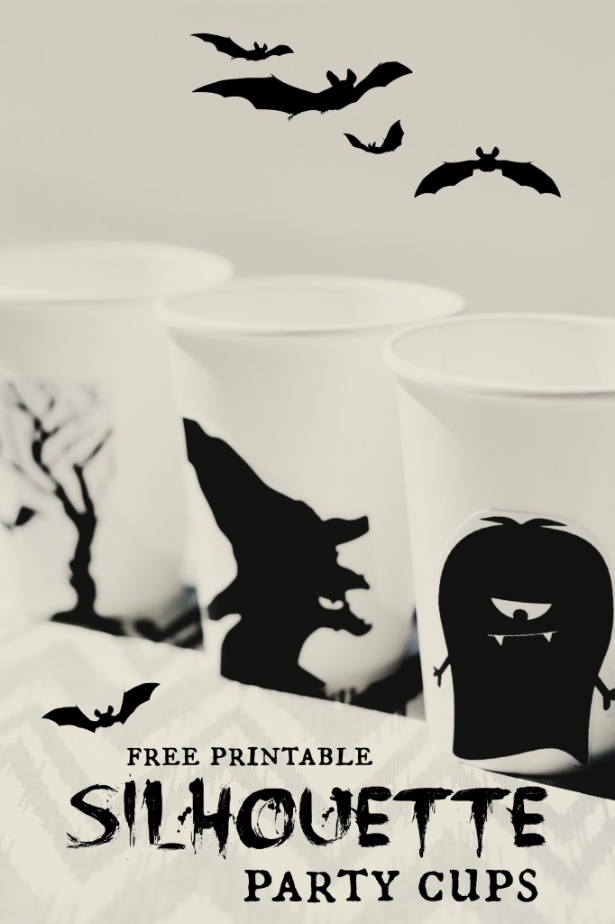 free printable Silhouette party cups