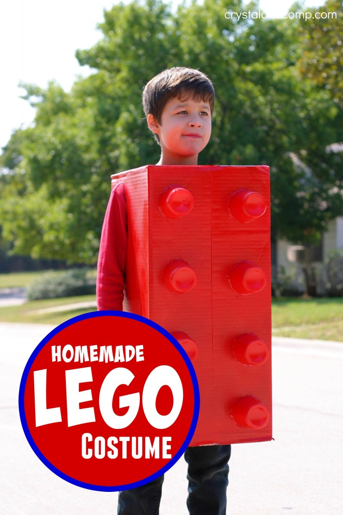 Homemade Lego Costume by Crystal and Co