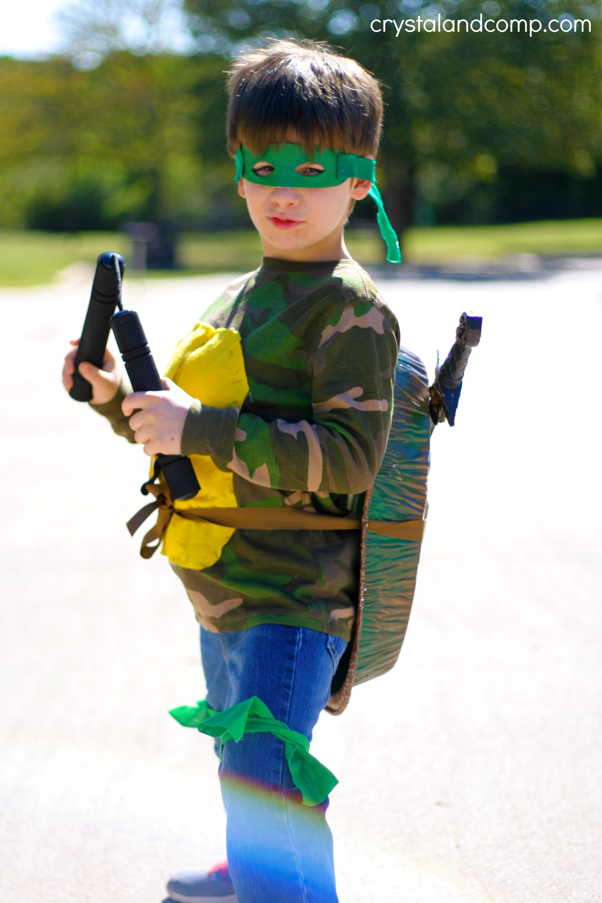 how to make a homemade teenage turtle costume & DIY Ninja Turtle Costume