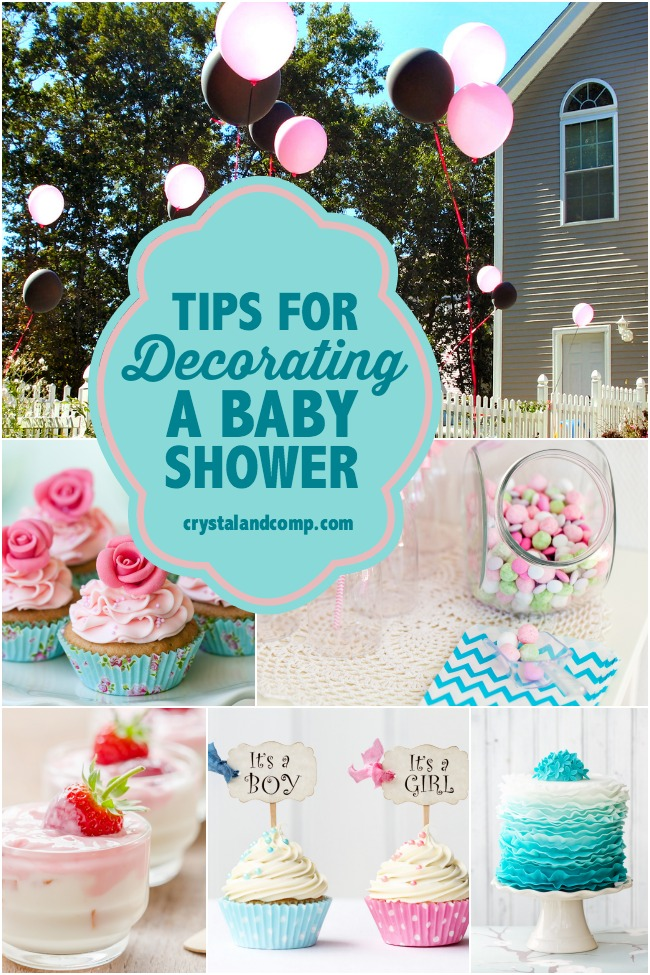 Tips for decorating a baby shower for Baby shower dekoration