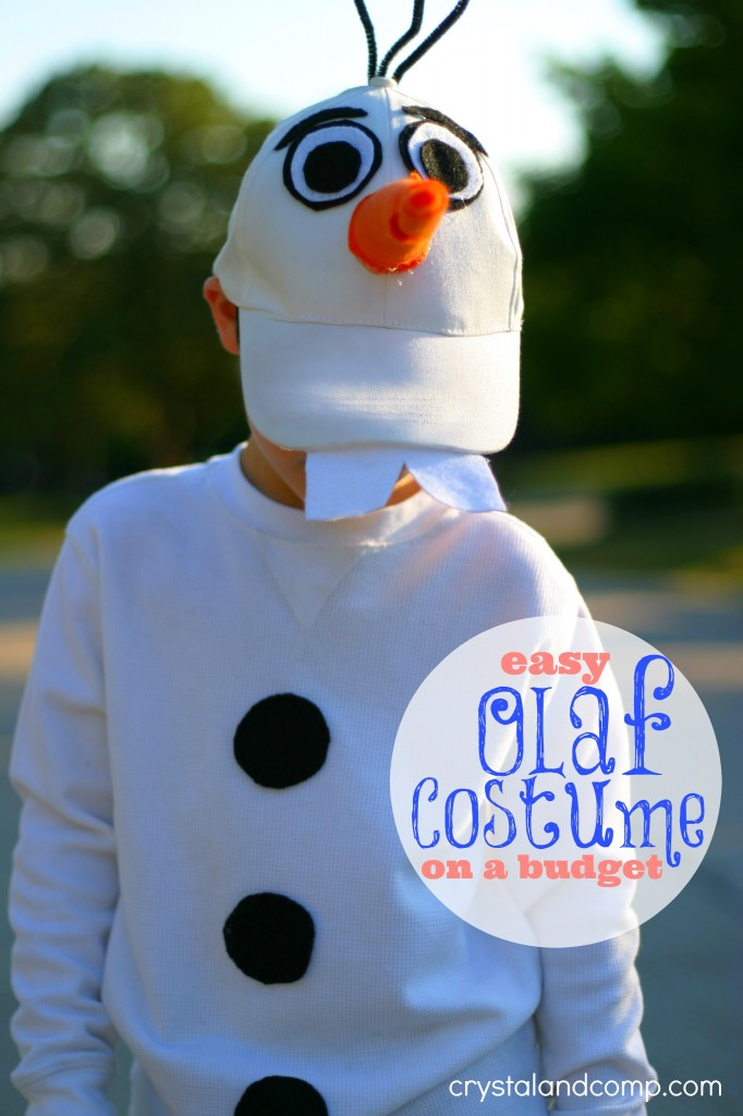 how to make an olaf costume on a budget