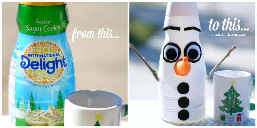 Coffee Creamer Christmas Crafts