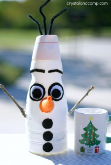olaf frozen christmas craft