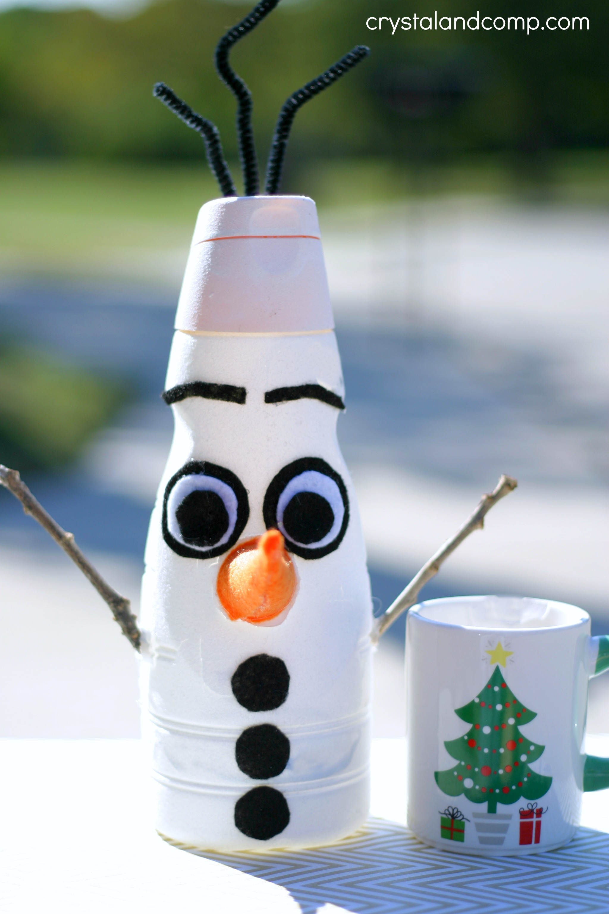 Olaf Frozen Christmas Craft on preschool activities worksheets