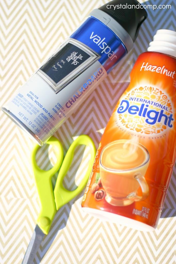 repurpose coffee cream container