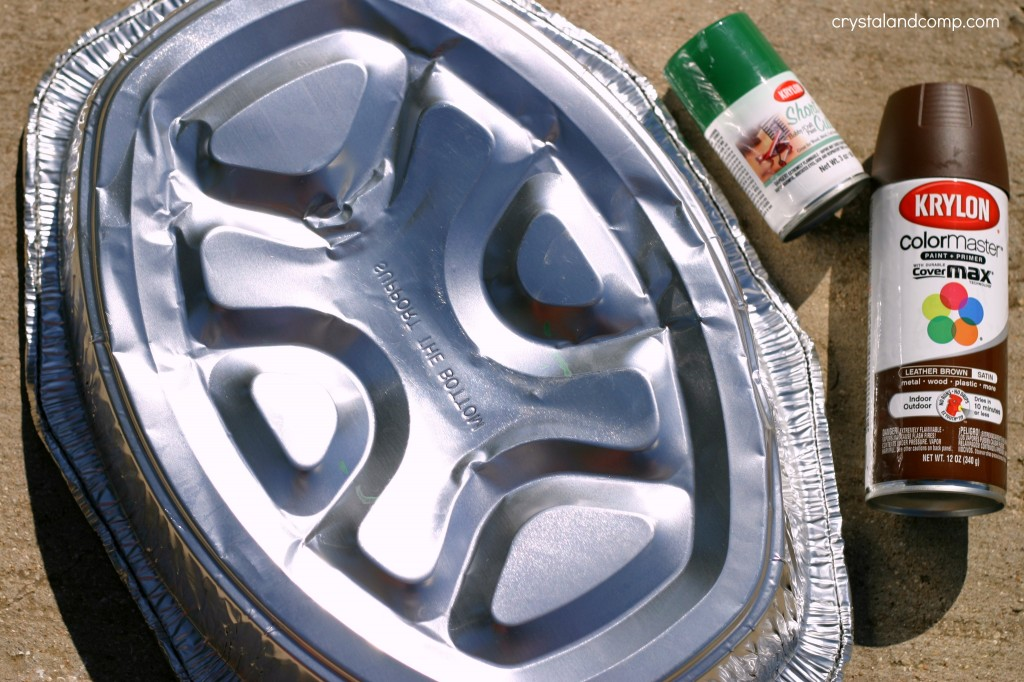 use a roasting pan to make a teenage turtle costume