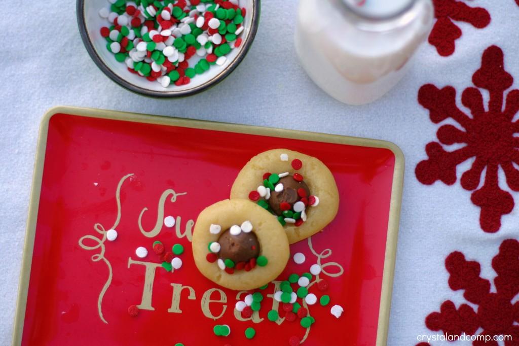 DIY thumbprint cookies for Christmas