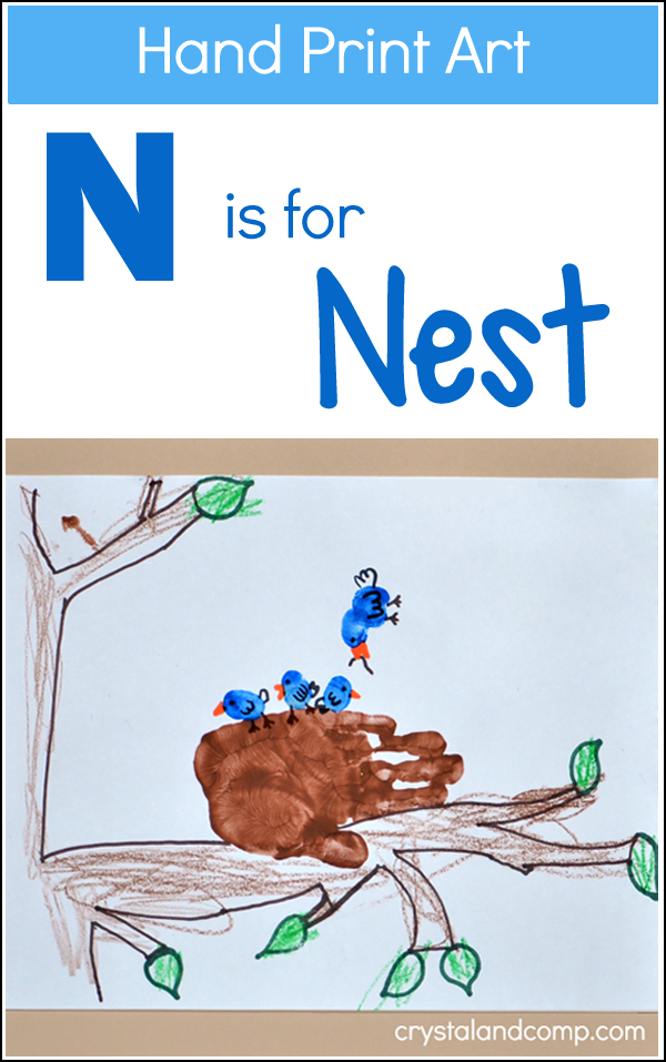 Hand Print Art: N is for Nest Craft