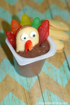 Thanksgiving Turkey Cookies with Pudding