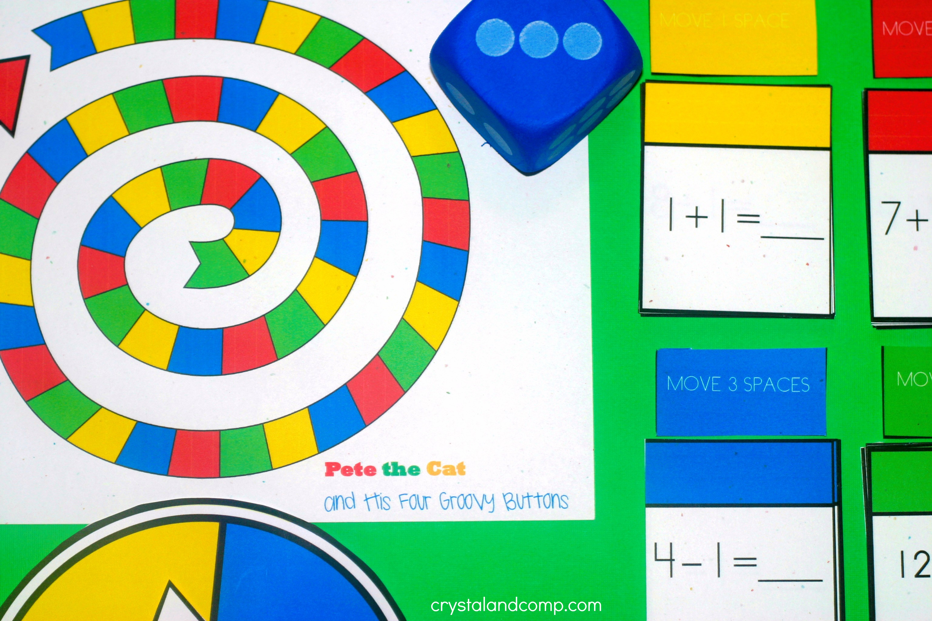 Roll the dice and the child who rolls the highest number will go first    Kids Board Games Printable
