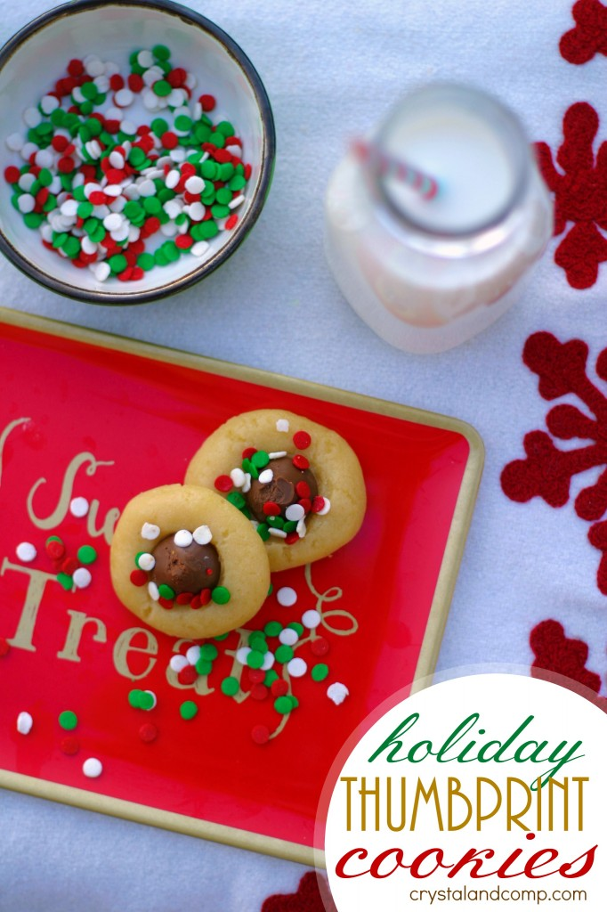 use an easy sugar cookie recipe to make holiday thumbprint cookies for Santa