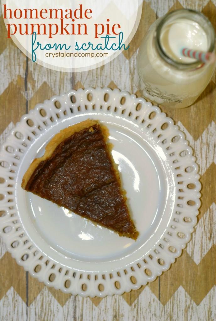 homemade pumpkin pie from scratch