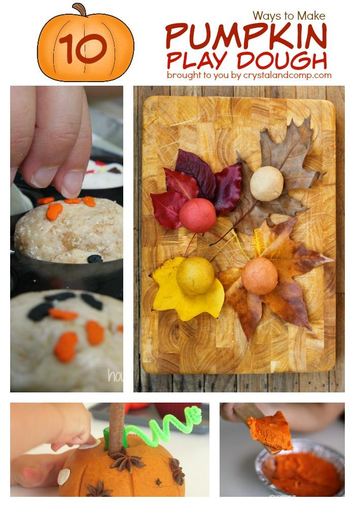 pumpkin play dough recipes