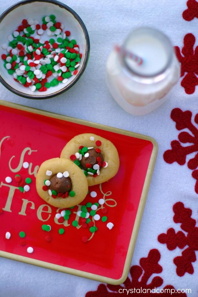 thumbprint cookies for santa
