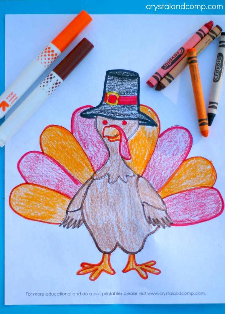 Turkey Color Pages For Kids