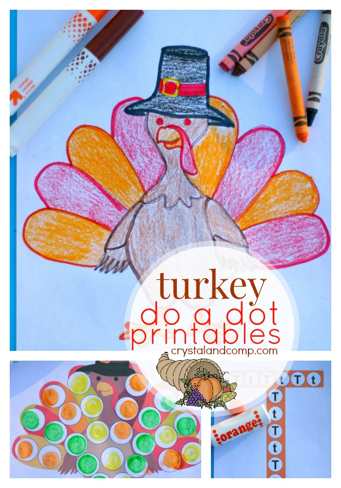 do a dot printables turkey packet