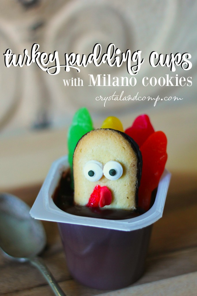 turkey pudding cups with milano cookies from crystalandcomp