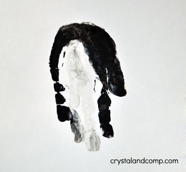 Hand Print Art Penguin - Letter P
