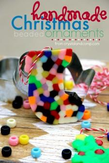Handmade Beaded Christmas Ornaments Kids Can Make