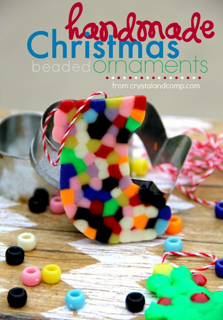 Handmade Beaded Christmas Ornaments