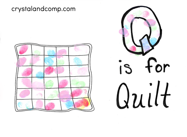 Q is for Quilt Hand Print Art