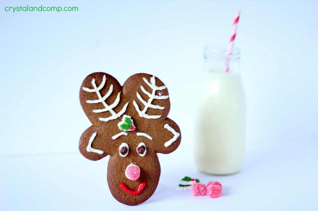 Easy to make reindeer cookies.