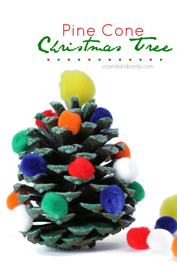 activities for kids: how to make a pine cone Christmas tree