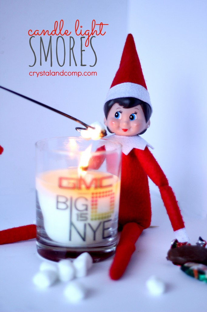 elf on the shelf can make candle light smores