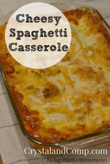 cheesy spaghetti casserole 1
