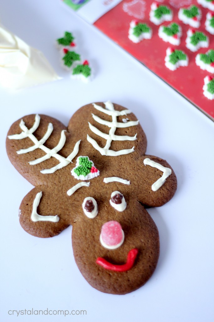 how to make christmas reindeer cookie