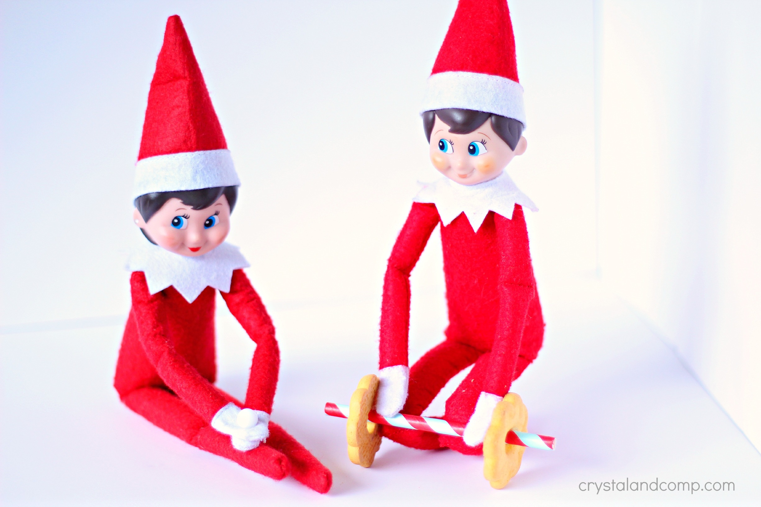 Cookie And Straw Dumbbell Workout Elf On The Shelf