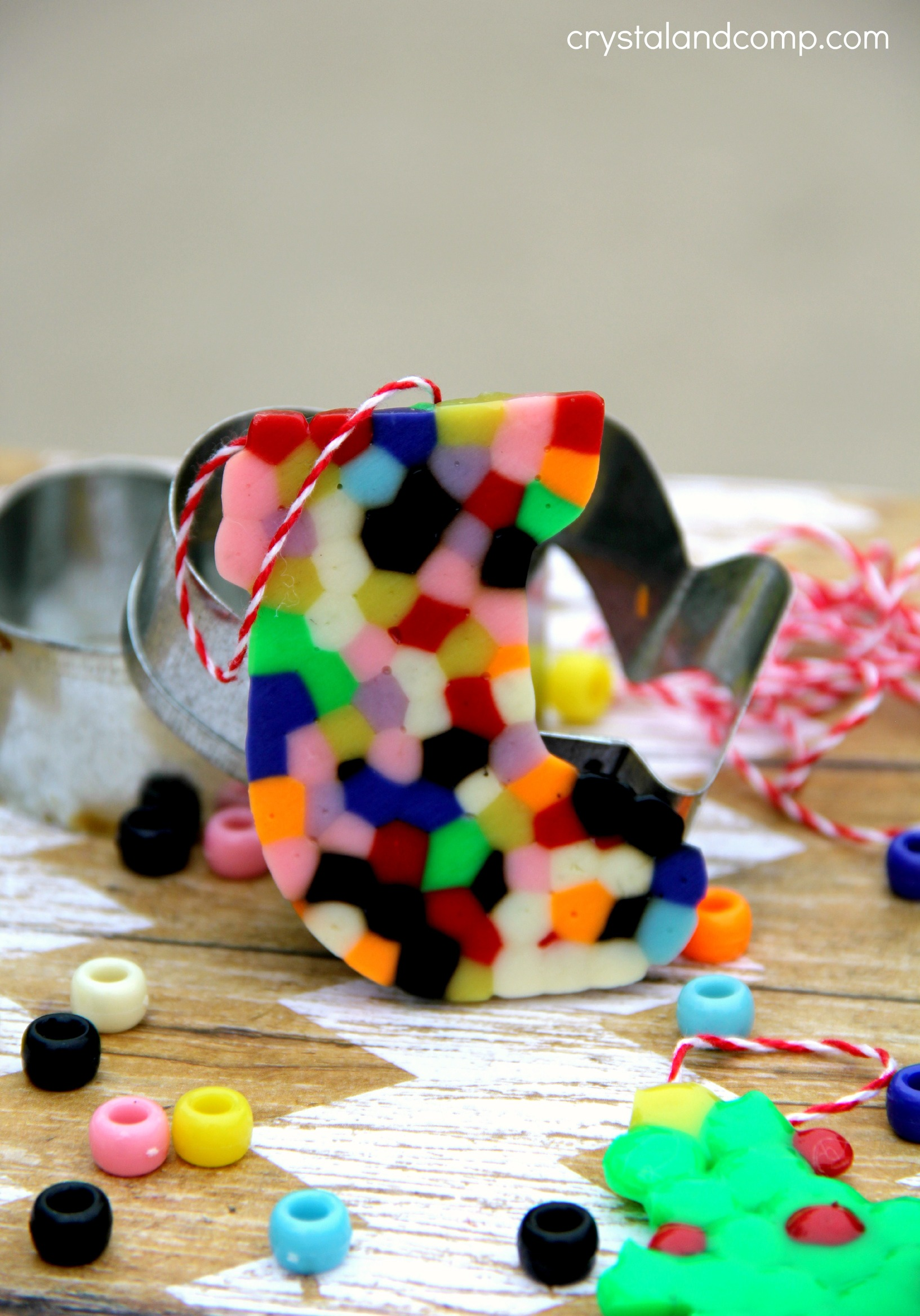 Cookie Cutter Pony Bead Ornaments