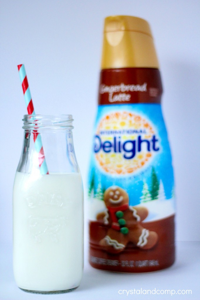 cookies for santa with gingerbread milk coffee creamer